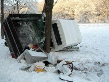 Ross Hill Unfall Bilder