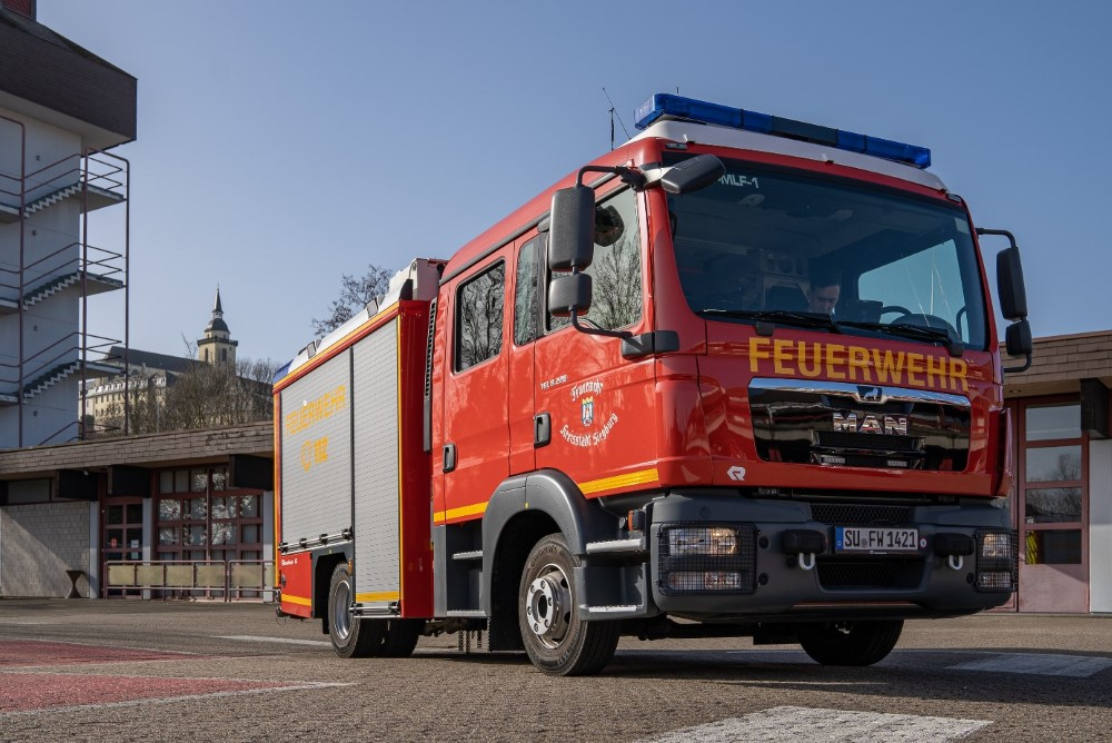 Bild vom mittleren Löschfahrzeug MLF 1 der Freiwilligen Feuerwehr Siegburg