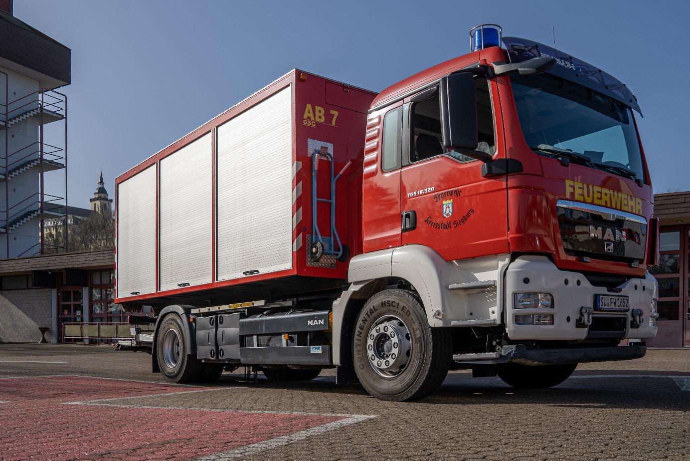 Bild vom Wechselladerfahrzeuge (WLF 2) der Freiwilligen Feuerwehr Siegburg