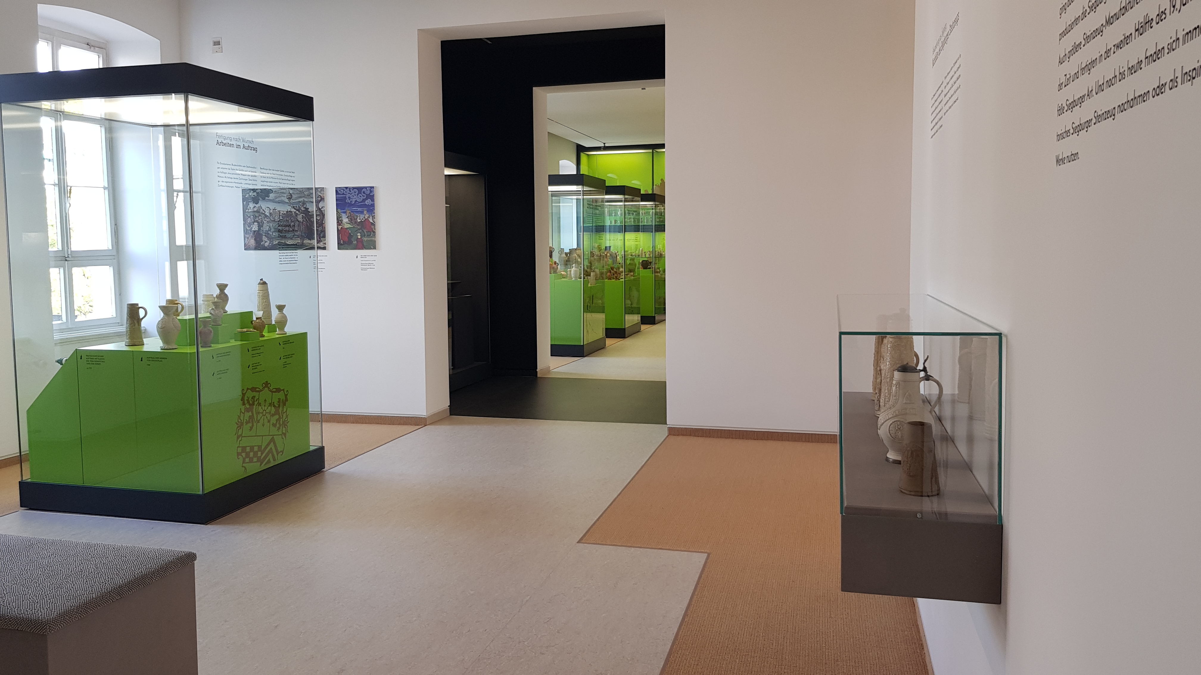 Blick in die Dauerausstellung der Stadtmuseum Siegburg.