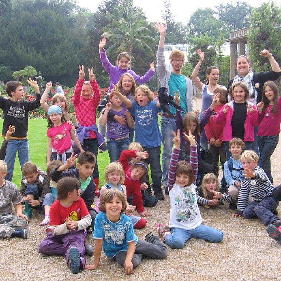 Das Bild zeigt eine Gruppe von Kindern