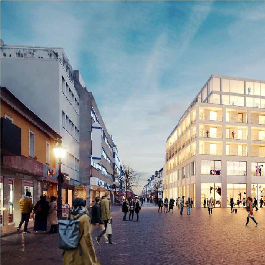 Das Bild zeigt den Bereich um das zukünftige Kaisercarré neben dem Galeria Kaufhof