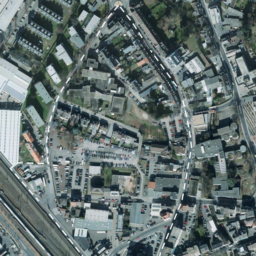 Hier sieht man ein Luftbild vom Haufeld