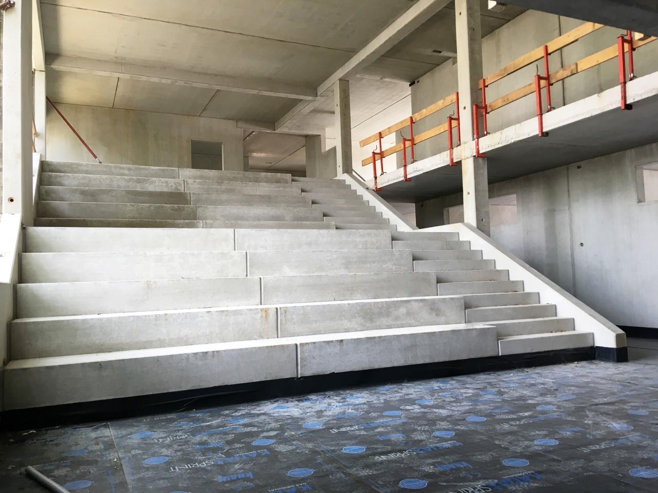 Das Bild zeigt eine Innenaufnahme vom Bau der Kindertagesstätte in Siegburg-Kaldauen