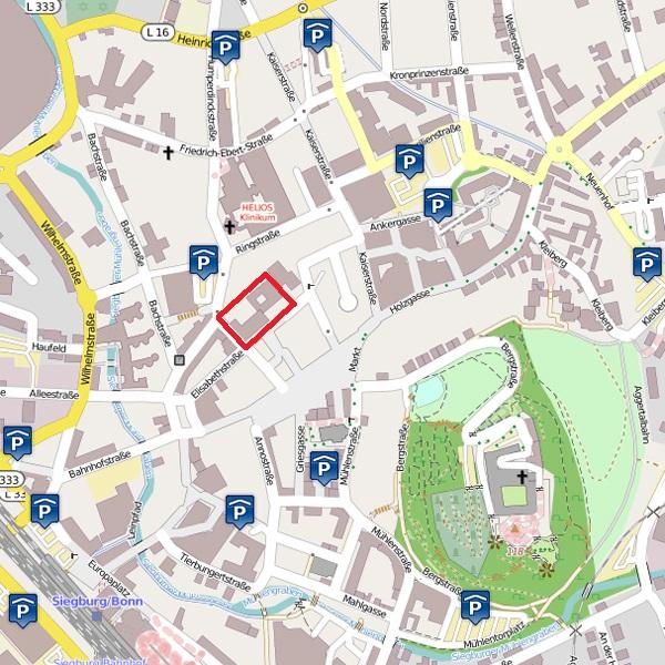 Parkmöglichkeiten in Siegburg