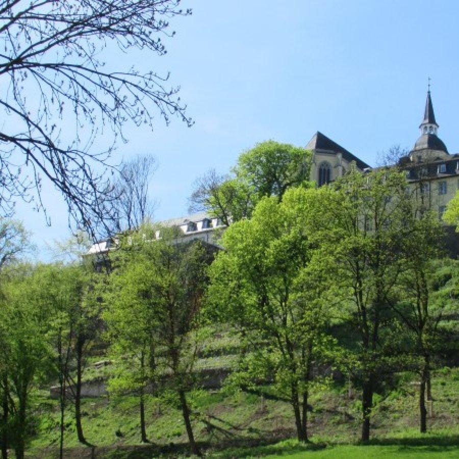 Das Bild zeigt einen Blick auf den Siegburger Michaelsberg