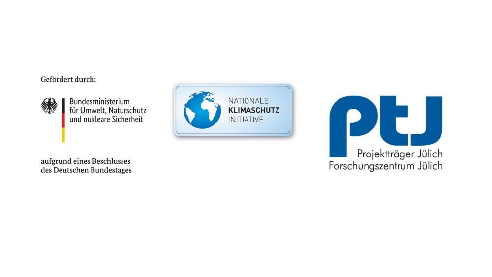 Das Bild zeigt die Logos der Nationalen Klimaschutzinitiative und des Projektträgers Jülich