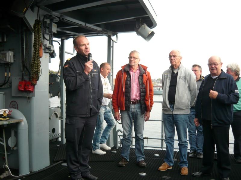 Die Bilder zeigen das Patenboot Siegburg in Kiel