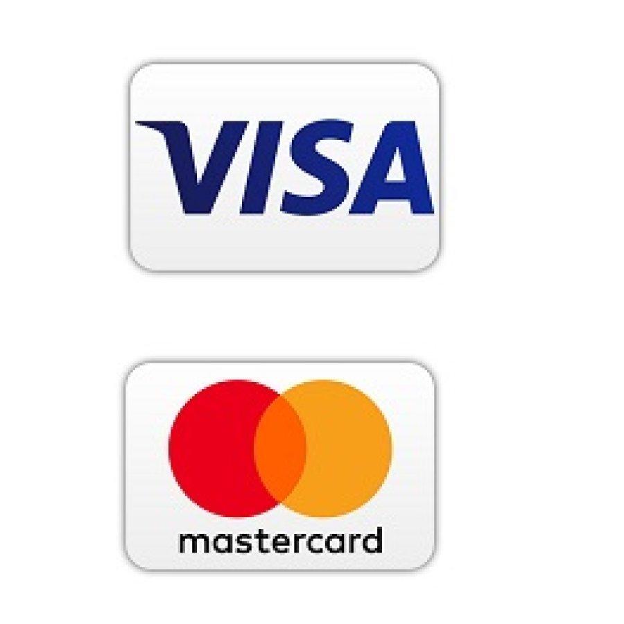 Logos von VISA und Mastercard
