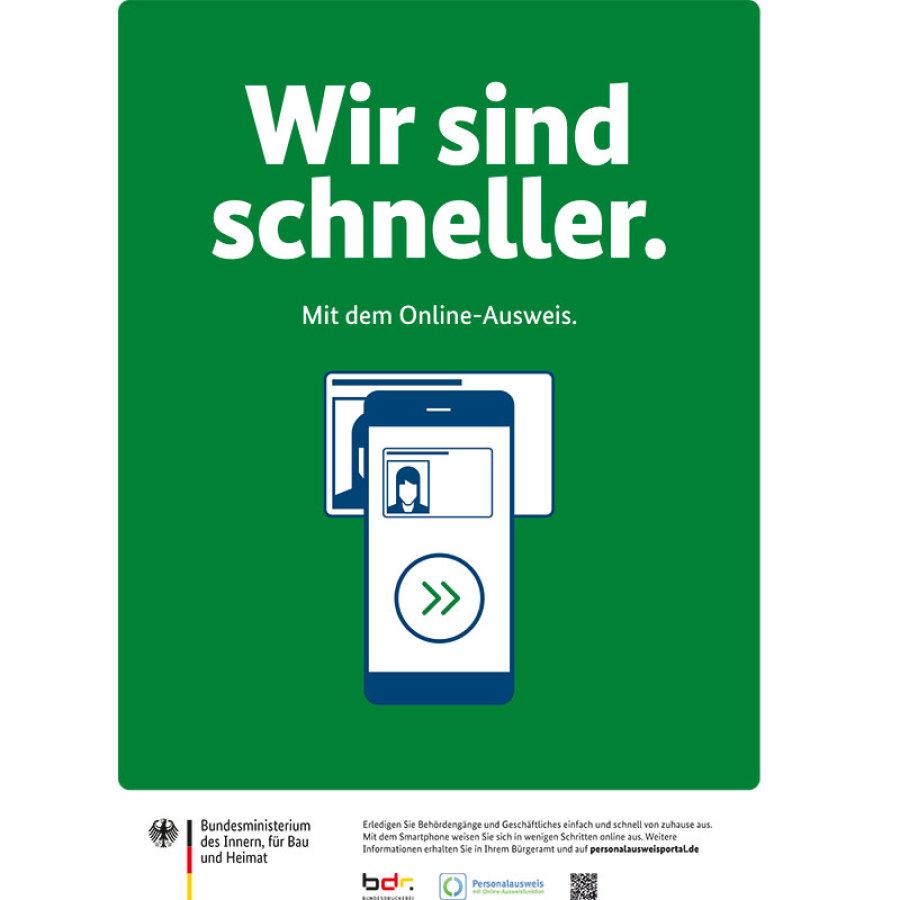 Plakat zum Thema Online-Ausweis