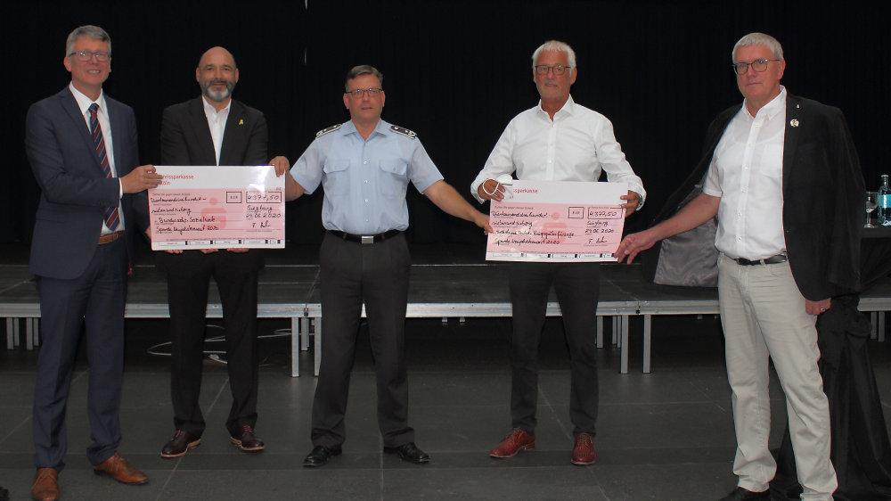 v.l.n.r., Norbert Bahl, Ralf Miltenberg, Christoph Scheibling, Franz Huhn und Sebastian Schuster