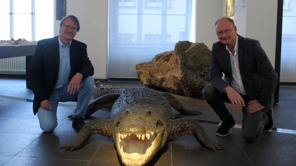 Prof. Dr. Thomas Litt von der Universität Bonn und TV-Meteorologe Sven Plöger