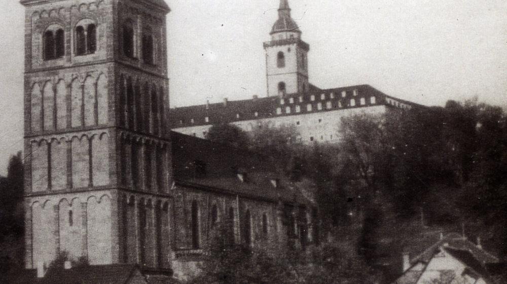 Servatiusturm um 1930