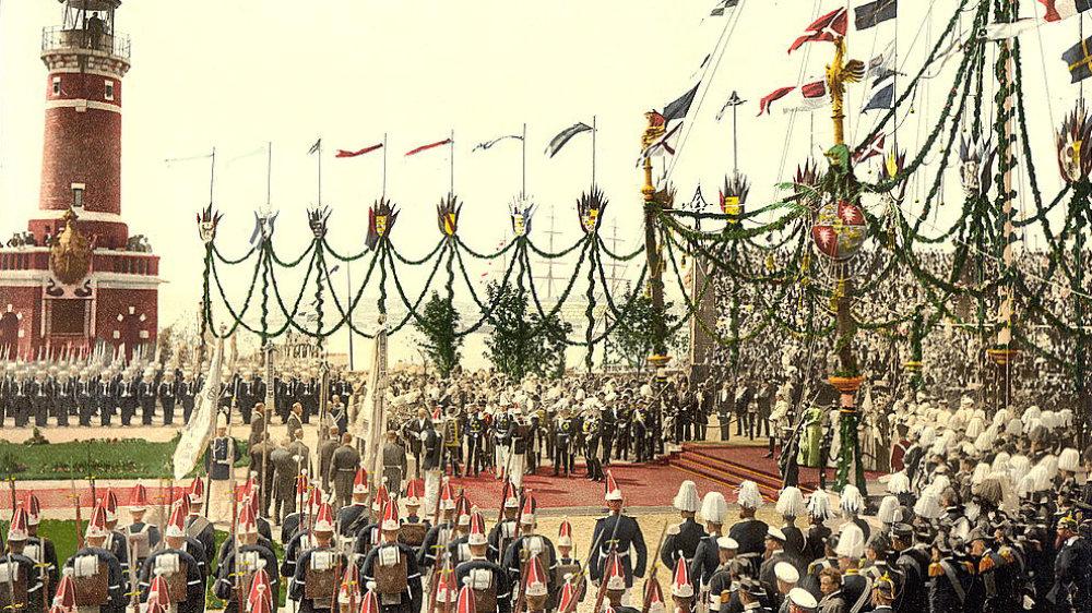 Kaiser Wilhelm II. eröffnet den Nord-Ostsee-Kanal 1895
