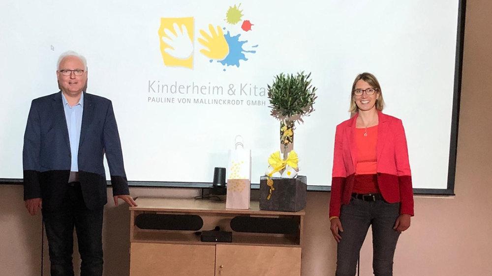 Prof. Dr. Norbert Krudewig und Sonja Boddenberg