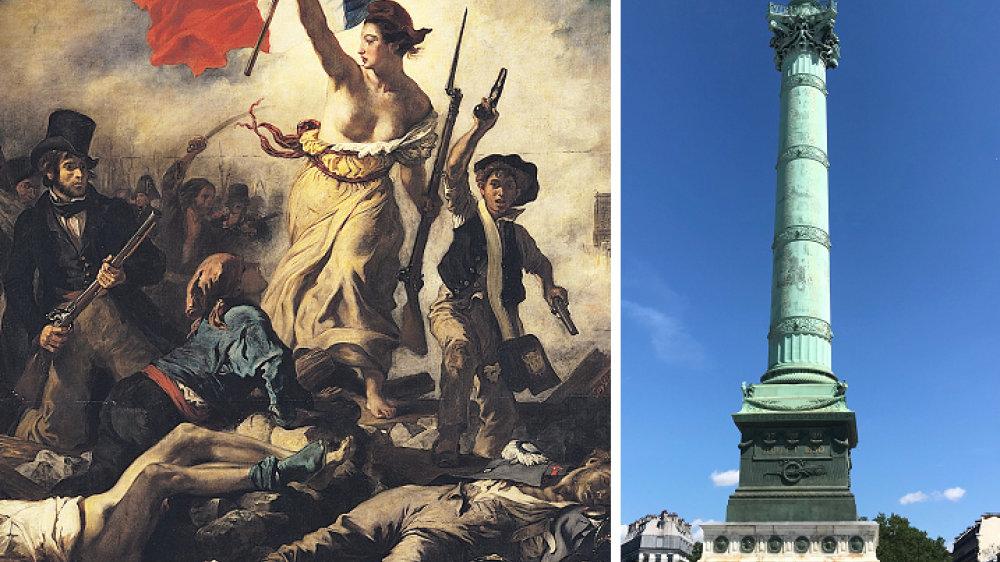 Ausschnitt aus La Liberte - Place de la Bastille