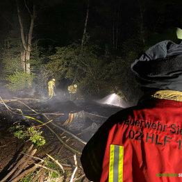 Unterholz in Flammen