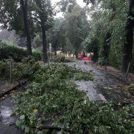 Unwetterfront zog über Siegburg