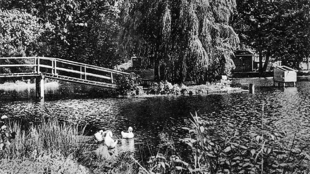 Der Weiher am Mühlenhof in den 1930er-Jahren