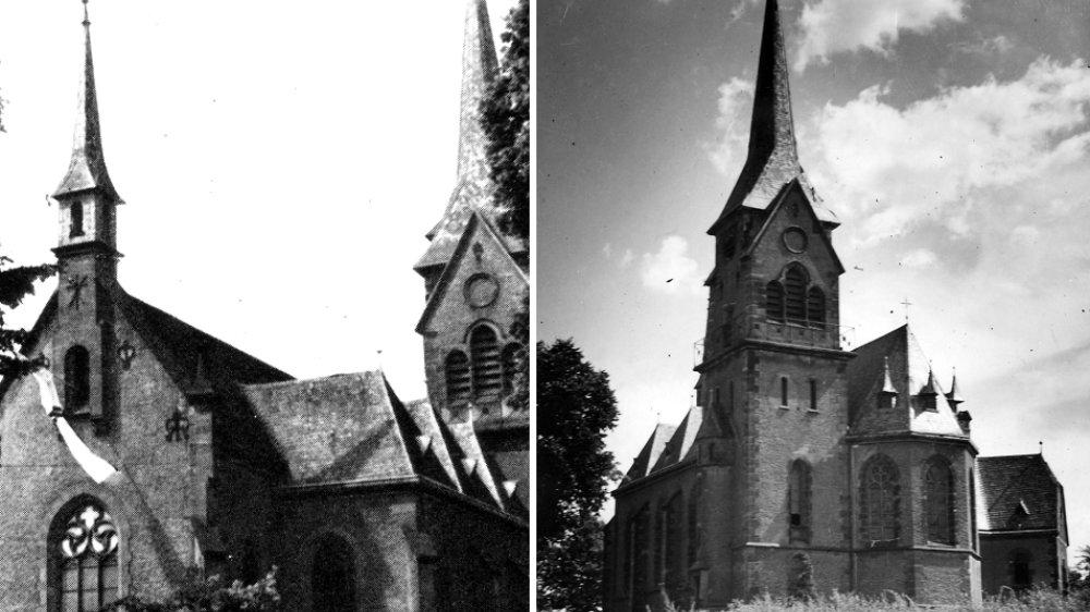 Alte Wolsdorfer Kirche vor dem Umbau 1960-1962