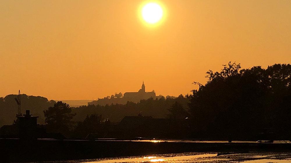 Die Abtei in der Abendsonne