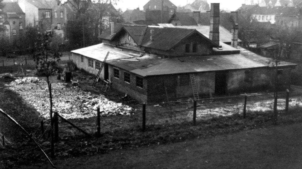 Maschinenhaus der Seilbahn auf den Michaelsberg auf dem Mühlentorplatz