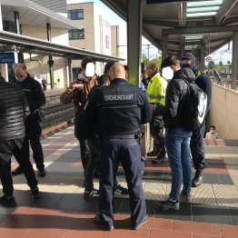 Tragepflicht im Bahnhof kontrolliert