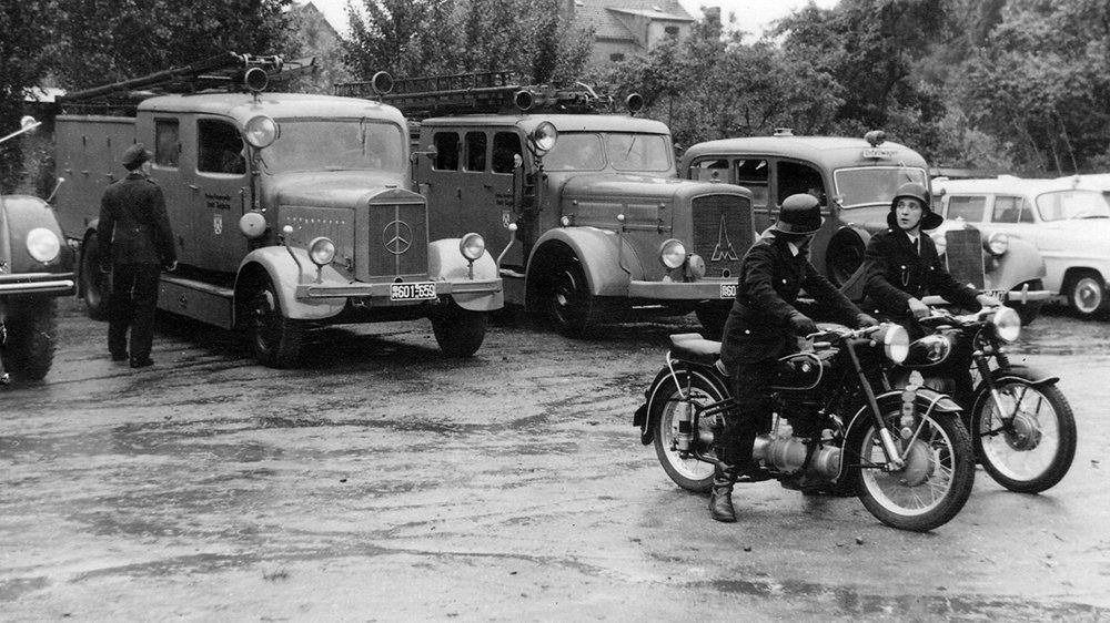 Fuhrpark der Siegburger Feuerwehr 1956