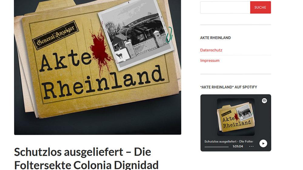 Akte Rheinland - Colonia Dignidad