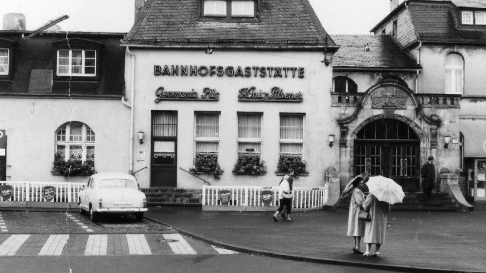 Der Siegburger Bahnhof um 1960
