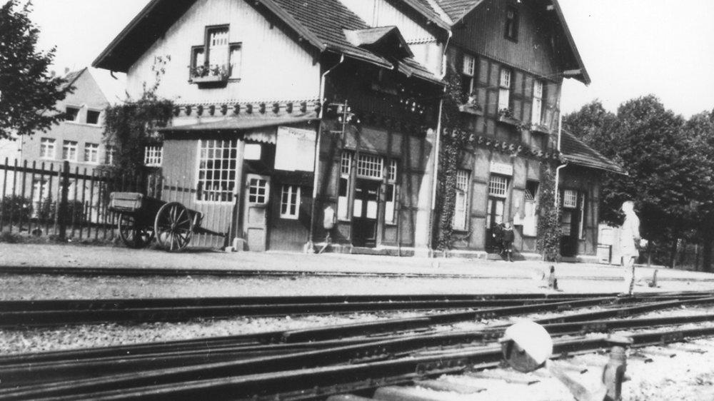 Bröltalbahnhof um 1910