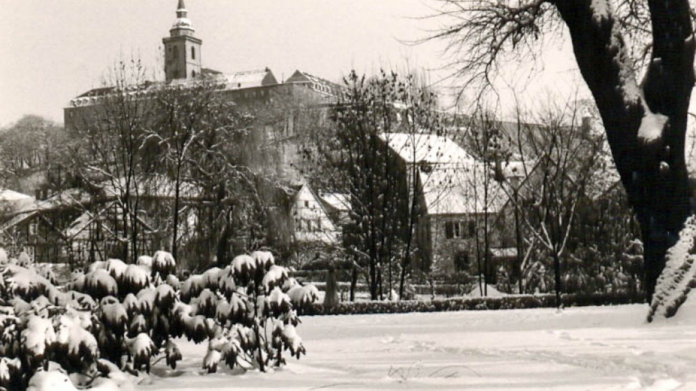 Siegburg im Schnee 1960