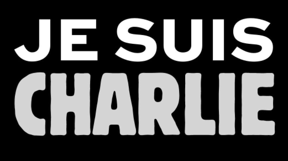 Der Schriftzug Je suis Charlie
