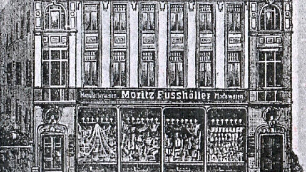 Geschäftshaus Fußhöller am Markt/Ecke Sternengasse in den 1920er Jahren
