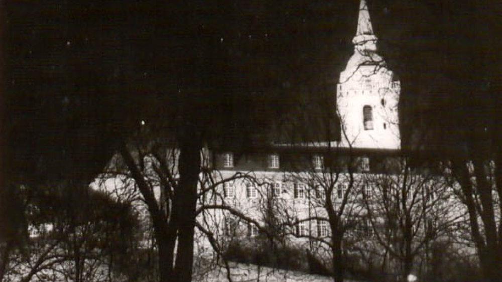 Die Abtei im Winter in den 1950er Jahren