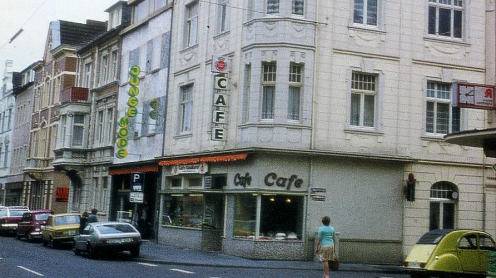 Cafe Werner in der Kaiserstraße, in den 1970-er-Jahren