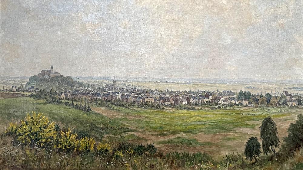 Ansicht von Siegburg von Maler Ferdinand Schneider