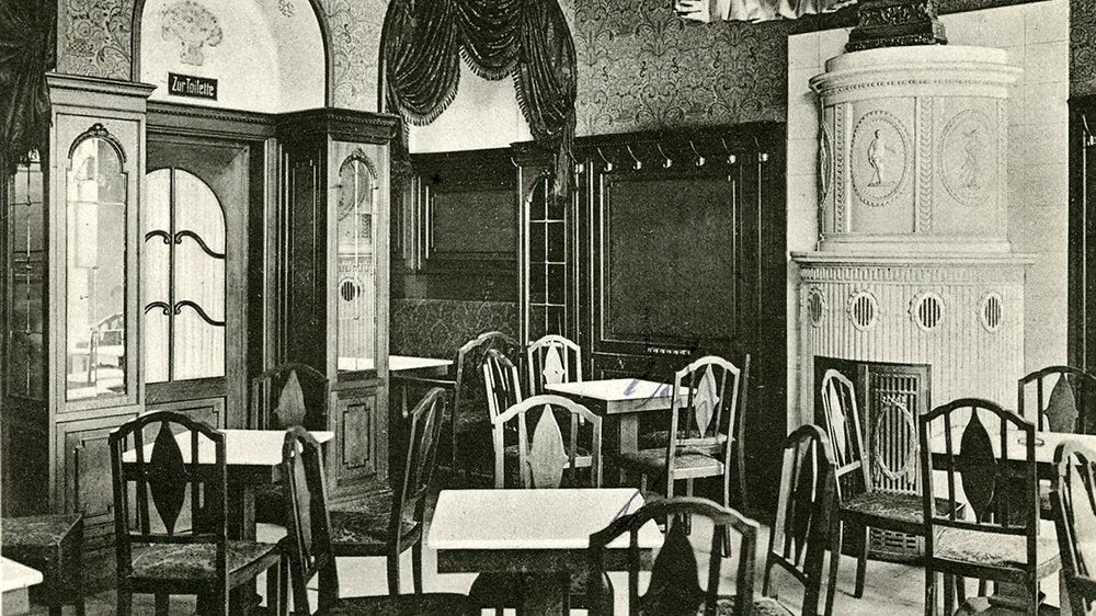 Cafe Faßbender 1916 in der Bahnhofstraße