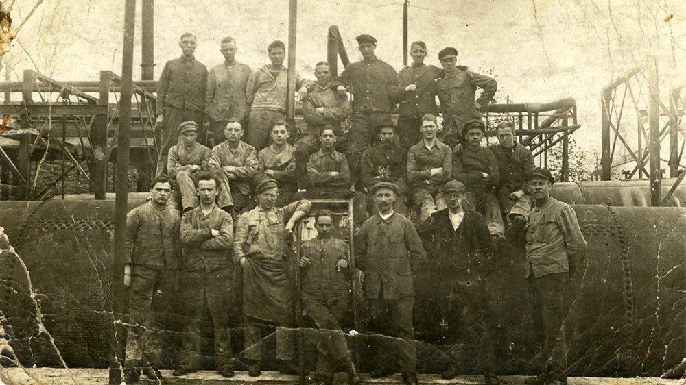 Beschäftigte der Geschoßfabrik 1916