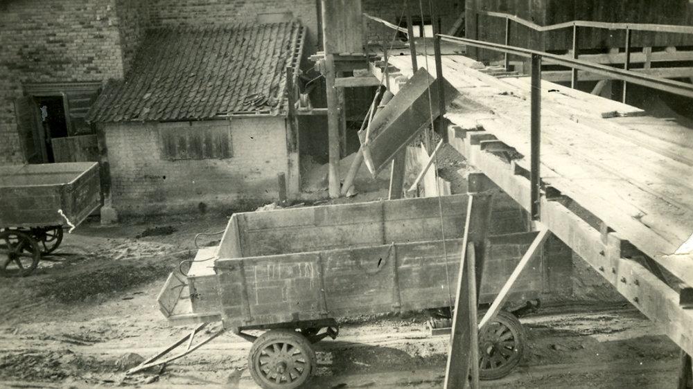Tonfuhrwerk der Firma Langel auf dem Stallberg in den 1920er Jahren