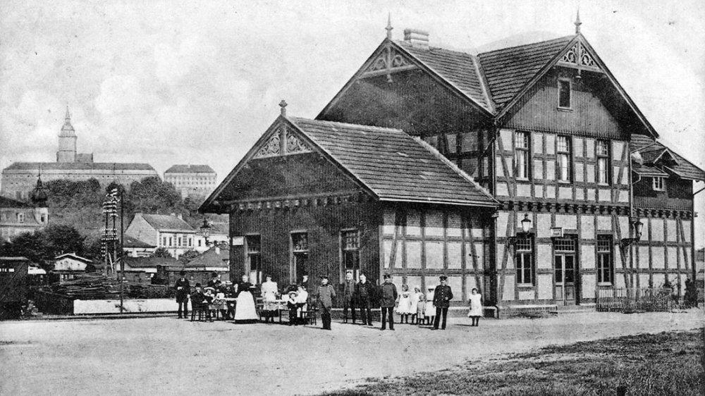 Bröltalbahnhof auf der Zange, vor 1909