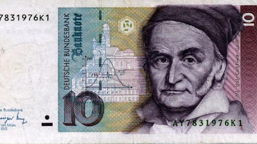 Carl Friedrich Gauß auf dem 10-Mark-Schein