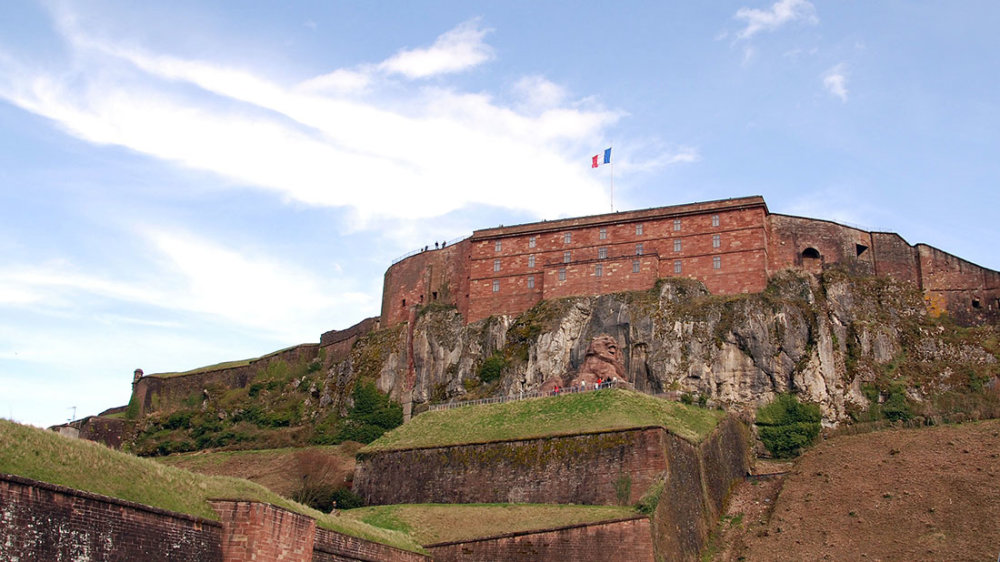Zitadelle des mächtigen Forts Belfort