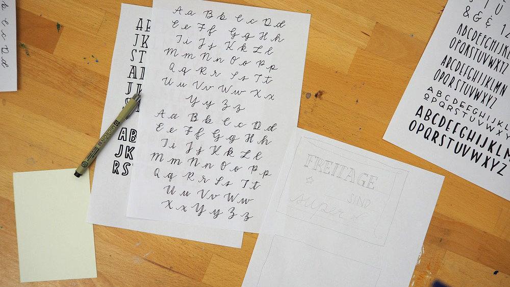 Buchstaben zeichnen