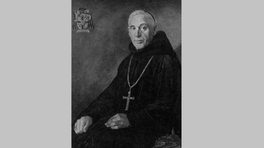 Abt Dr. Ildefons Schulte Strathaus, gemalt von Leo Assenmacher aus Düsseldorf 1956