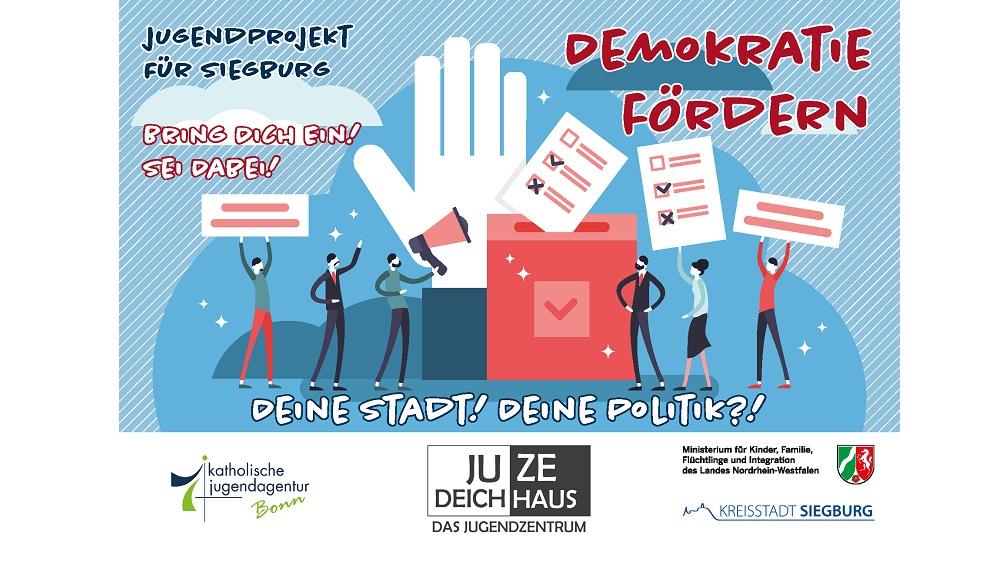 "Postkarte ""Demokratie fördern"""