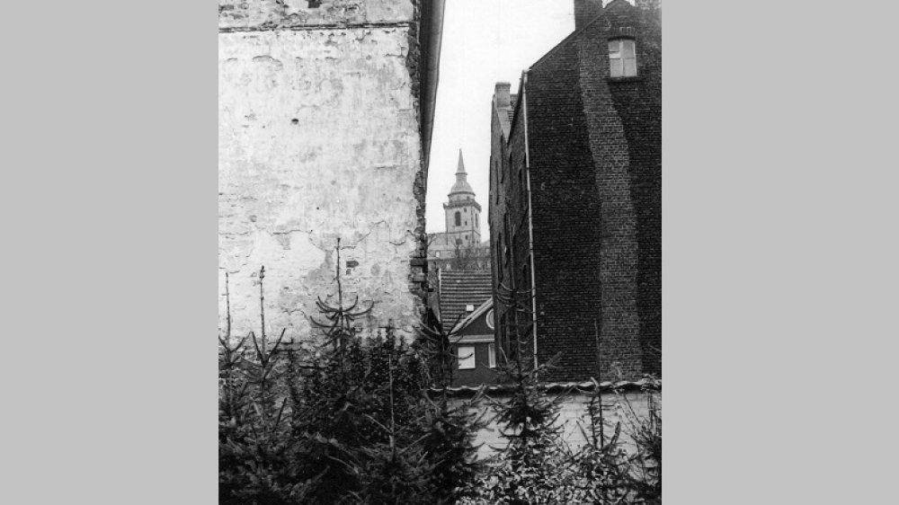 Die ehemalige jüdische Schule an der Holzgasse um 1963