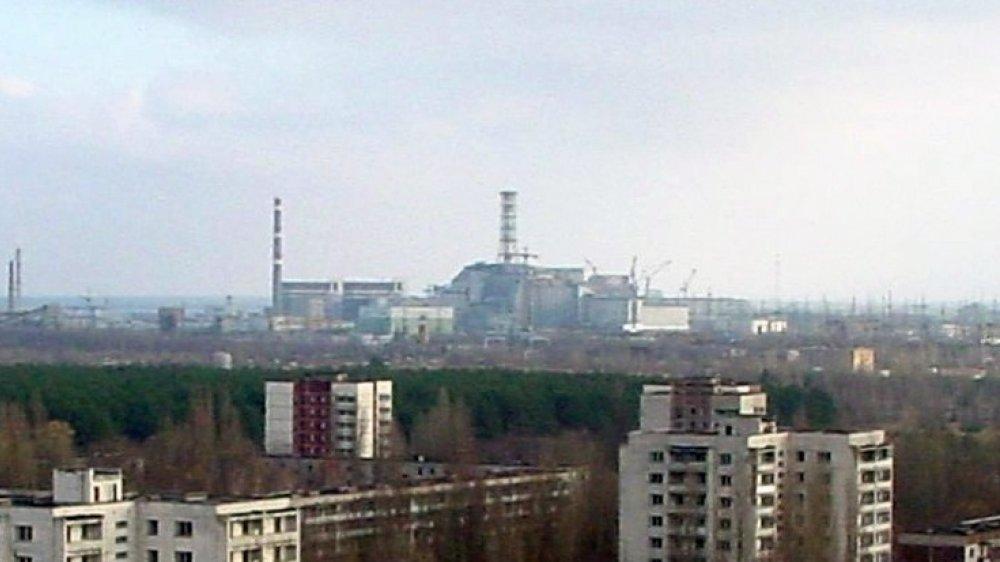 Tschernobyl mit Blick von Prypjat 1986