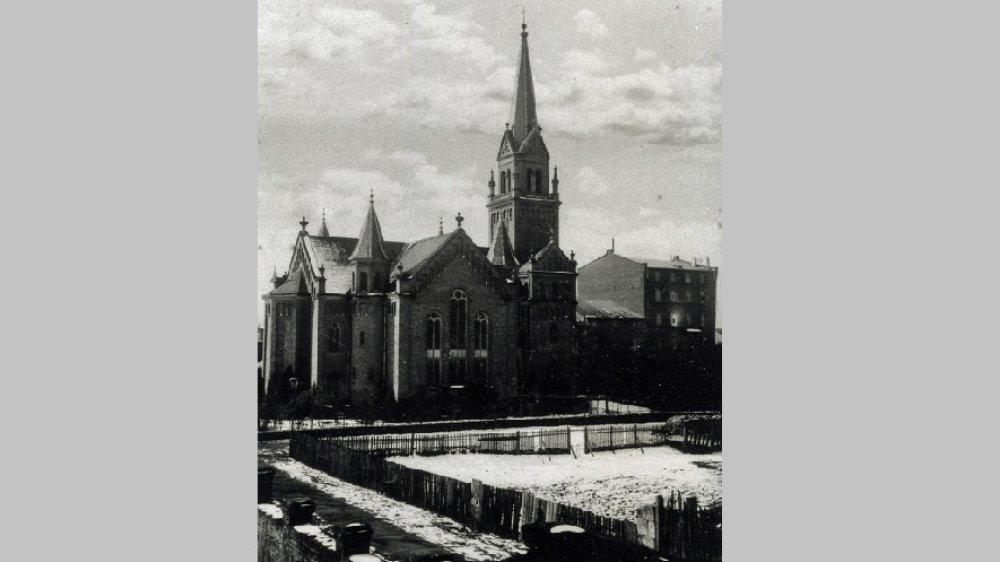 Evangelische Stadtkirche um 1930