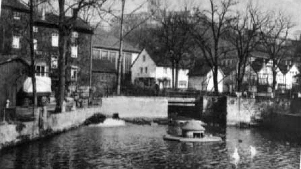Der Mühlengraben Mitte der 1950er Jahre